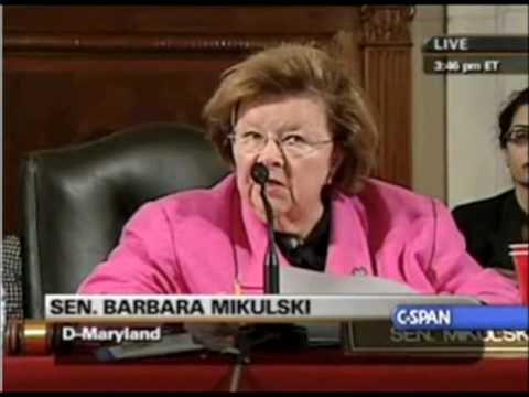 Senator Barbara Mikulski (D-MD) Wants Abortions On Obama's Health Care Reform