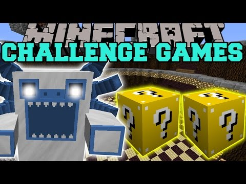 Minecraft: MUTANT YETI CHALLENGE GAMES — Lucky Block Mod — Modded Mini-Game
