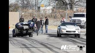 Shelby Cobra wheel stang vs nitrous Camaro at Tricky D Garcias thanksgiving shakedown