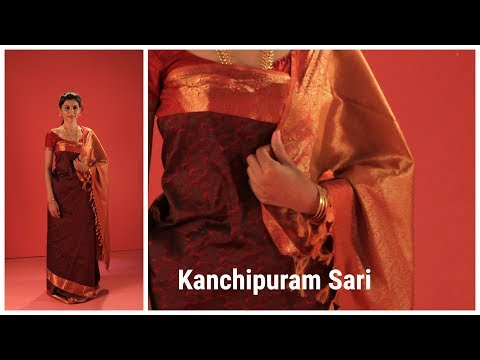 How to drape Kanchipuram sari in Coorgi style,  Woman wear , India