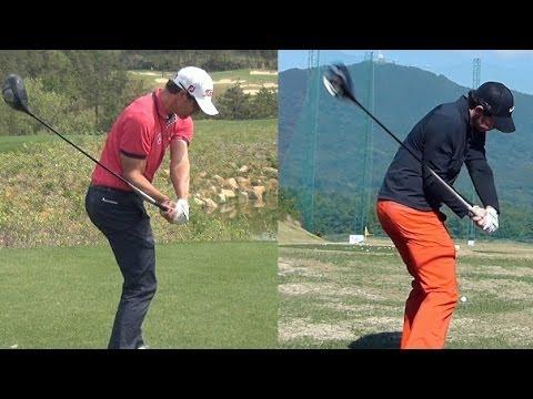 [1080p HD] Rory Mcilroy vs Adam Scott Driver Golf Swing