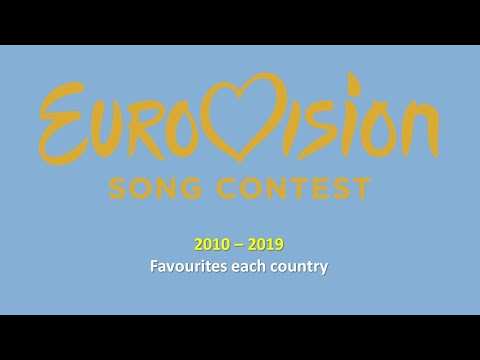 Eurovision 2010-2019 - My favourites each country (46 Countries)