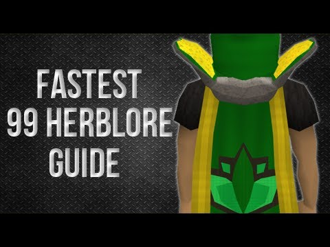 Runescape 1-99 herblore guide – 2013 EOC cheap and EASY