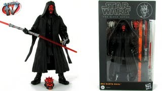 "Star Wars Black Series 6"" #02 Darth Maul Figure Toy Review, Hasbro"