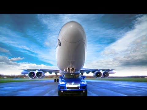VW Touareg Towing a 747 Jumbo Jet - Fifth Gear