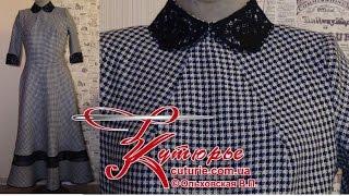 """Шитьё платья модели """"японский ньюлук"""" с юбкой полусолнце и регилином"""