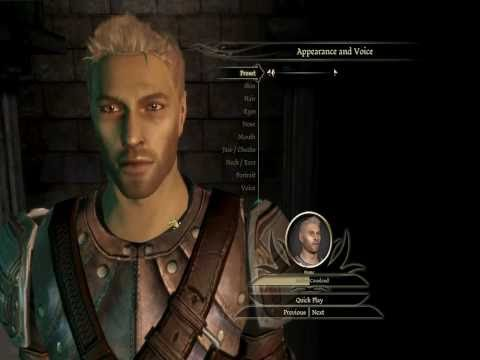 Dragon Age Origins Characters Creation ▶ Dragon Age Character