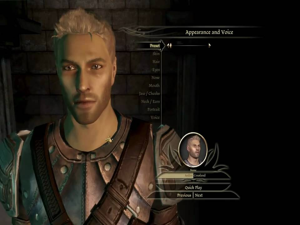 Dragon Age Origins Characters Creation Dragon Age Origins Character