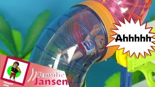 "Playmobil Film deutsch ""GALAXY RIDE & SLIDE im MEGA AQUAPARK"" Familie Jansen / Kinderfilm"