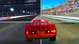 Cars 1 the Videogame 360 - Lightning Mcqueen & Mack Truck VS ALL PISTON CUP RACES
