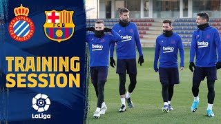Full squad returns to training ahead of derby against Espanyol