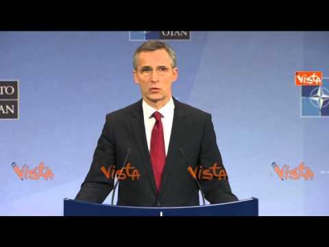 BRUXELLES NATO STOLTENBERG CRISI UCRAINA SI AGGRAVA DECIDEREMO DIMENSIONE FORZA MILITARE 05-02-15