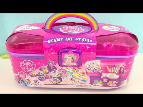 TOYS My Little Pony STAMP ART STUDIO Creative Activity For Kids | itsplaytime612
