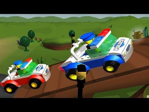 LEGO® Juniors Create машинки как мультики про лего, строим полицейскую машинку, автокран, вертолет.