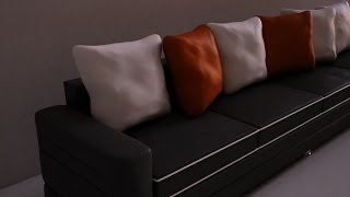 3Ds Max , Modeling a Sofa and Pillow