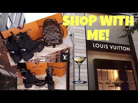 $HOP AT LOUIS VUITTON W/ME+ UNBOXING LAUREATE PLATFORM DESERT BOOT & PALM SPRINGS BACKPACK MINI