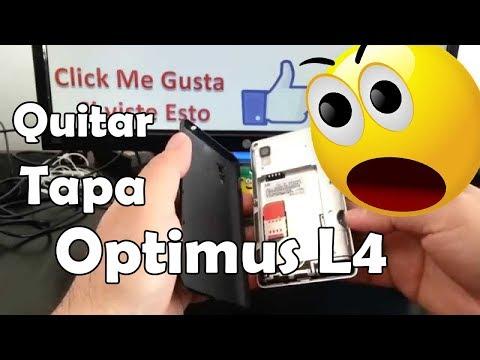 Como abrir y quitar la tapa trasera LG Optimus L4 comoconfigurar