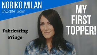 Amber's Favorite's - Noriko Milan Hair Topper, Chocolate Brown | Plus hair loss story rambelings