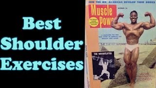 Best Shoulder Exercises - Bodybuilding Tips To Get Big