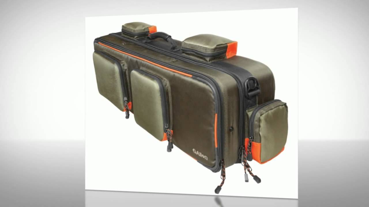 Allen company cascade fishing rod and gear bag best for Ice fishing rod case