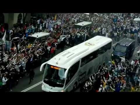 Прибытие игроков Реал Мадрида на  Сантьяго Бернабеу
