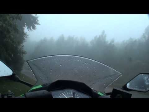Kawasaki Ninja 300 Cruising Through Highways & Forests