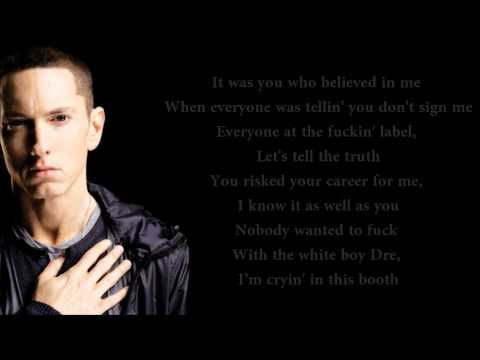 Dr. Dre - I Need A Doctor (feat. Eminem & Skylar Grey) Lyrics Video