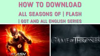 How to download  tv series all seasons for free | flash | GOT | 13 reasons why on phone