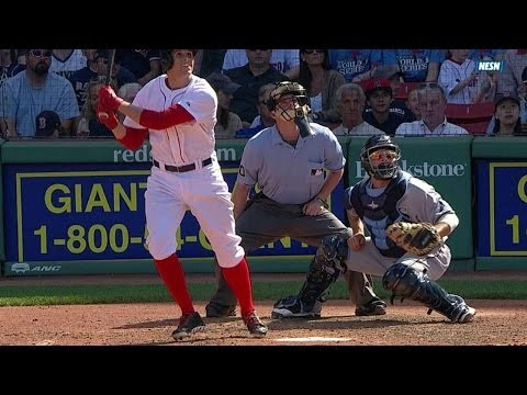TB@BOS: Cecchini doubles for his first MLB hit