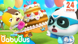 Help! Baby Kitten's Birthday Cake is Flying Away | Super Panda Rescue Team | BabyBus Cartoon