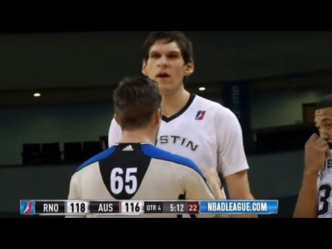 Boban Marjanovic Breaks the Rim at Austin Spurs Game!