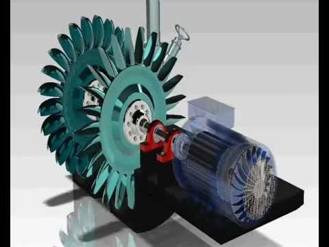 Turbina Pelton - Solidworks