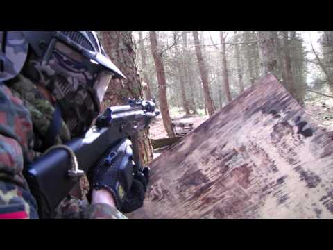 Airsoft War G36. ICS M4. ICS L86. AK47 Section8 Scotland