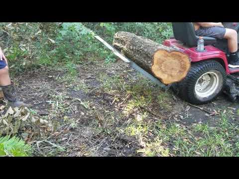 Diy log lifter in action
