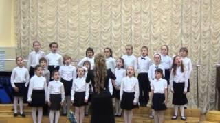 Отчетный концерт хорового отдела ДМШ им. Дунаевского. 1-й класс. 24-12-15.