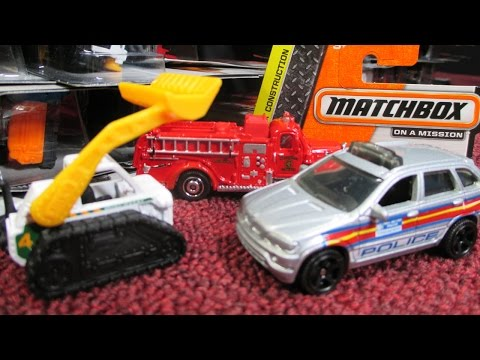 2014 J Matchbox Case Unboxing With Mack Fire Truck And More