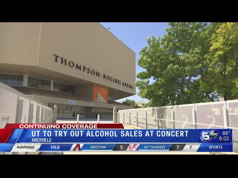 UT to try out alcohol sales at concert