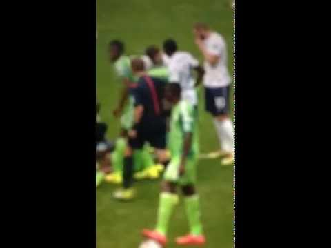 YELLOW CARD MATUIDI FRANCE VS NIGERIA WORLD CUP 2014 (30/06/3014)