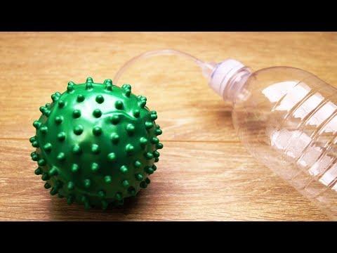 Как сделать крутой насос из пластиковой бутылки своими руками