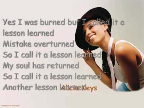 Alicia Keys - Lesson Learned, Lyrics In Video - YouTube