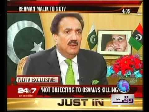 Rehman malik interview with NDTV VO Farooqi.mp4