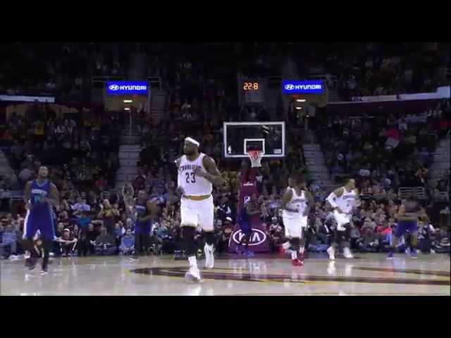 LeBron Scores Double-Double in Monday Night's Win