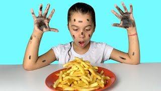 A MENINA QUE NÃO QUERIA LAVAR AS MÃOS - Pretend Play Wash Your Hands, video for kids