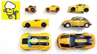 Bumblebee yellow car transformer トランスフォーマー 變形金剛   stop motion for kids