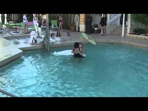 Bride Quynh Jumps in Pool / Key West Hyatt Wedding