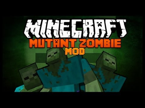 Minecraft Mod Spotlight - MUTANT ZOMBIE MOD 1.7.2 - SUPER ZOMBIES !!