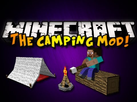 Minecraft: The Camping Mod - TENTS, CAMPFIRES, &amp; MORE! (HD)