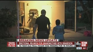 Missing Tampa boy found by Action News reporter reunited with grandmother