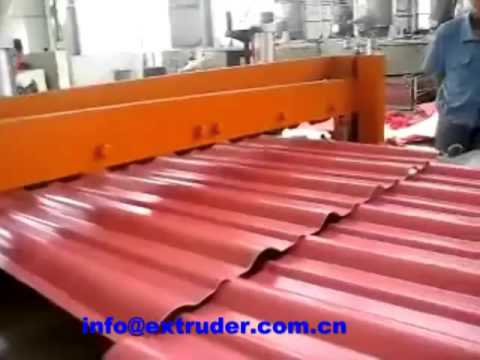 plastic corrugated roofing sheet machine youtube. Black Bedroom Furniture Sets. Home Design Ideas