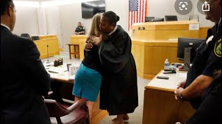 Judge Tammy Kemp unsuccessfully tries to explain why she hugged #AmberGuyger
